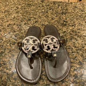 Tory Burch Miller Sandals New Worn Once Sz 8.5